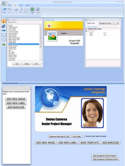 Le Logiciel Professionnel Gratuit Advanced ID Creator V 95 Personal Edition Licence Gratuite 2014 Vous Aide La Cration Et Impression De Cartes Visite